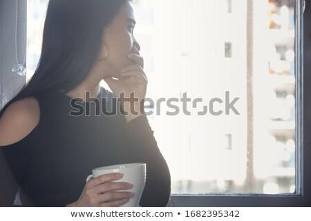 Endişeli kadın pencere dijital bileşik teknoloji Stok fotoğraf © wavebreak_media