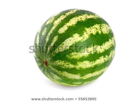 Stock photo: studio shot of a flawless whole watermelon isolated on pure whit