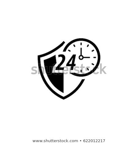 Korumalı ikon dizayn güvenlik kalkan saat Stok fotoğraf © WaD