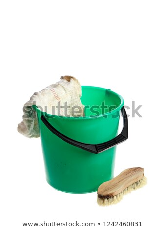 bucket with Floorcloth isolated on white background. Cleaning ac Stock photo © MaryValery