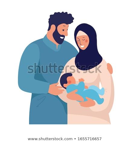macierzyństwo · miłości · matka · dziecko · szkic · wewnątrz - zdjęcia stock © nikodzhi