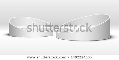 Fehér henger pódium három rang renderelt kép Stock fotó © Oakozhan
