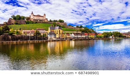 Travel and landmraks of Germany - beautiful Wurzburg town Stock photo © Freesurf