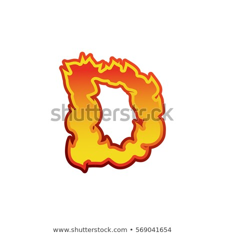 letter d fire flames font lettering tattoo alphabet character stock photo © popaukropa