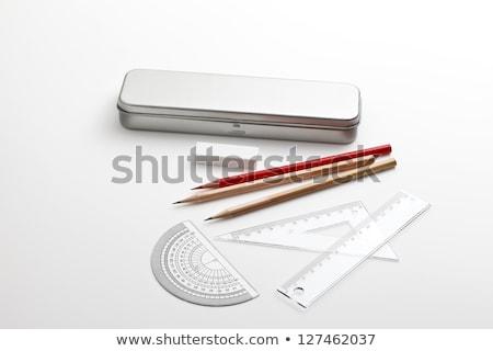metal pencil case and book Stock photo © devon