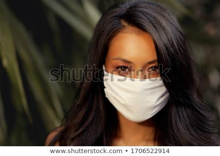 Asian mode model buitenshuis aantrekkelijk vrouw Stockfoto © artfotodima