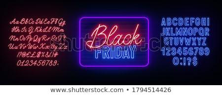 Black friday testo blu neon luce lampada Foto d'archivio © romvo
