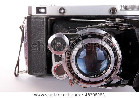 Photo stock: Vintage · caméra · isolé · blanche · film · film