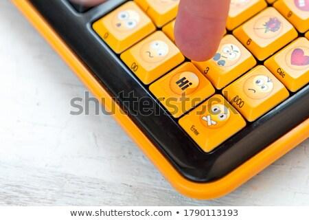 Hand Finger Press Welcome Key. Stock photo © tashatuvango