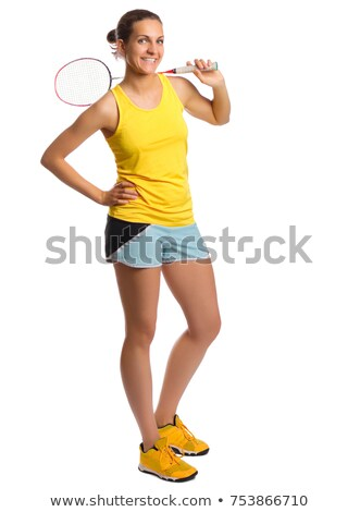 young woman with badminton racket Stock photo © IS2