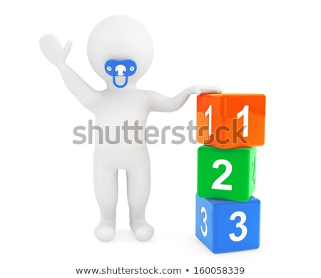 3d small people - toy blocks Stock photo © AnatolyM