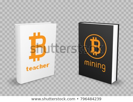 Libros transparente blanco negro moneda bitcoin Foto stock © romvo