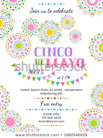 Cinco de Mayo card template with round design Stock photo © bluering