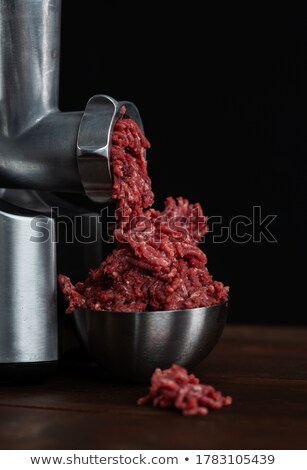 A steel plate of minced meat Stock photo © IS2