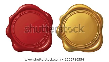 Dourado selar cera 3D imagem branco Foto stock © AnatolyM