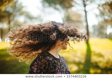 girl shaking hair stock photo © is2