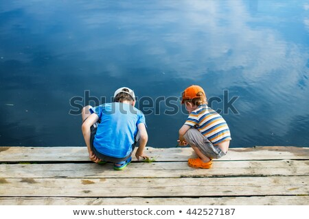 çocuklar oynama göl doğa bikini eğlence Stok fotoğraf © IS2