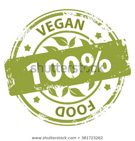 Branco vegan saúde quadro verde Foto stock © Zerbor