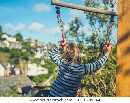 子供 · スイング · 実例 · 少年 · 公園 · 演奏 - ストックフォト © bluering