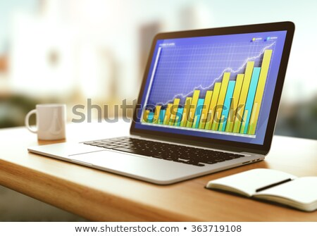 Laptop Screen with Profit Growth Concept. 3d Stock photo © tashatuvango