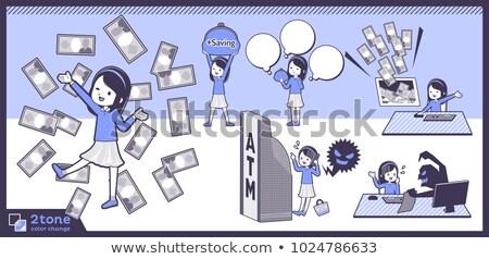 2tone type blue clothes headband girlset 12 stock photo © toyotoyo