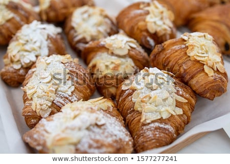 Smaczny rogaliki biały żywności tle Zdjęcia stock © bdspn