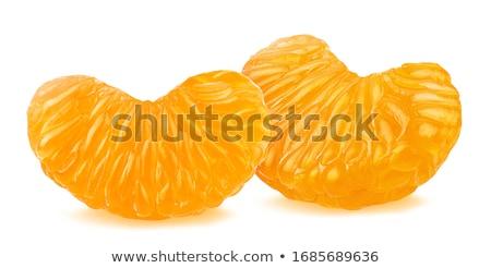 hámozott · édes · narancs · felszolgált · asztal · étel - stock fotó © melnyk