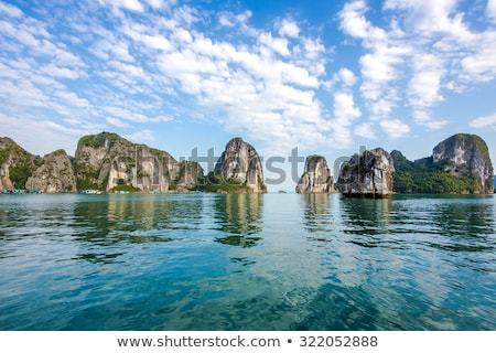 Limestone rocks in Ha Long Bay of north Vietnam. Stock photo © romitasromala