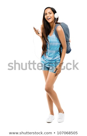 Schoolgirl White_travel Stock photo © toyotoyo