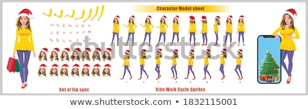 Sprite sheets girl walking Stock photo © bluering