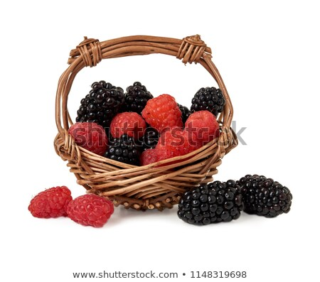 Blackberries in a basket on white background Stock photo © ungpaoman