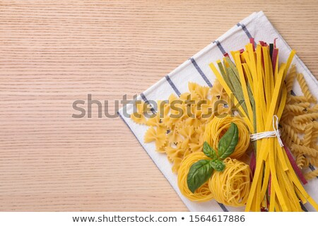 Different sort of pasta on napkin Stock photo © dash