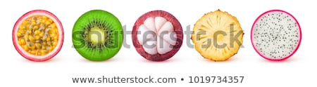 ananas · fruits · tranches · isolé · blanche - photo stock © artjazz