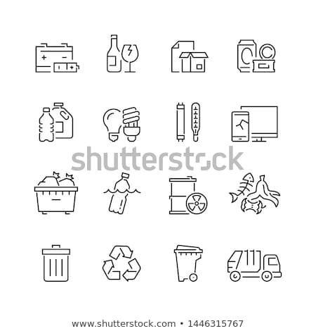 Papel metal orgânico desperdiçar conjunto vidro Foto stock © robuart