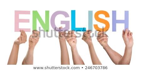 Spell English word hand Stock photo © bluering