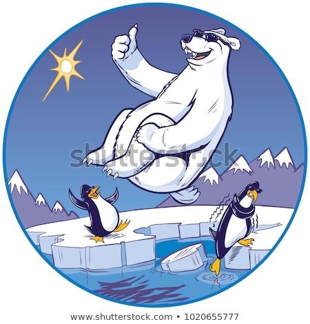 Cartoon orso diving illustrazione immersione nuotare Foto d'archivio © cthoman