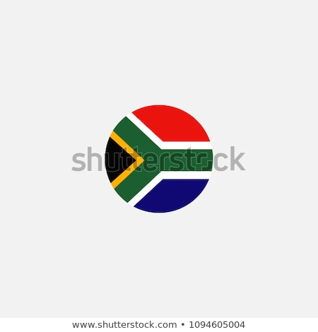 South African flag isolated on white Stock photo © daboost