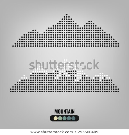 Punteggiata montagna vettore icona simbolo design Foto d'archivio © blaskorizov