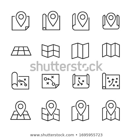 map marker icon for web site or mobile app vector isolated ill stock photo © nikodzhi