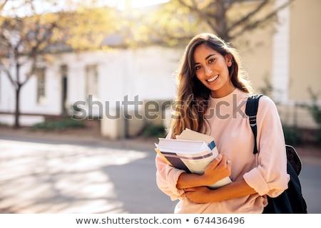 Güzel kadın açık kadın mutlu Stok fotoğraf © Minervastock