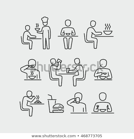 Cafe with Tables and People, Customers Vector Stock photo © robuart