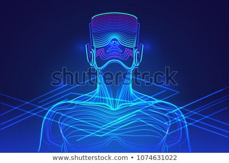Virtuális valóság emberek kütyük vektor érintés Stock fotó © robuart