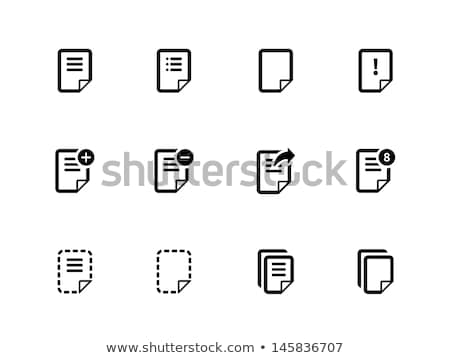 Office Papers Pdf and Doc Txt Files Set Vector Stock photo © robuart
