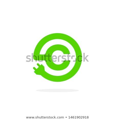 elektrikli · araba · yalıtılmış · yeşil · ikon · araba · ışık - stok fotoğraf © kyryloff