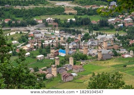 古い 町 観光地 グルジア 石 中世 ストックフォト © Kotenko