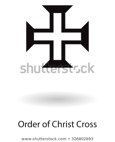 Order of Christ cross symbol vector silhouette isolated over white background. stock photo © kyryloff