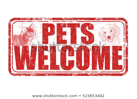 Stok fotoğraf: Cute Pets Clinic Welcome Sign
