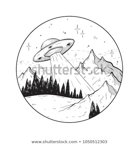 Kroki ufo ikon eps 10 yüz Stok fotoğraf © netkov1