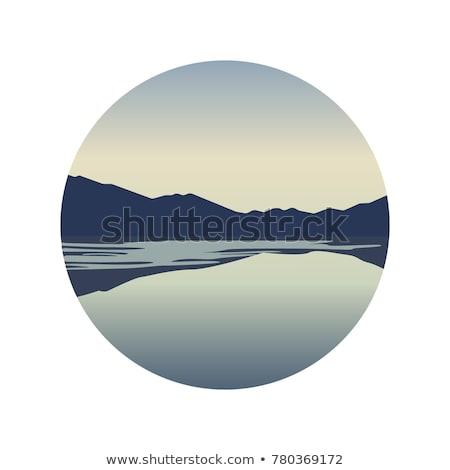 gyönyörű · napfelkelte · hegyek · tó · Grúzia · hegy - stock fotó © kotenko