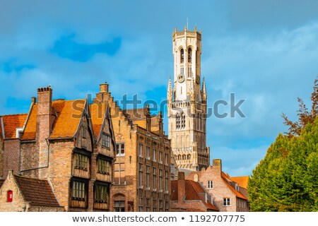 The Belfry Tower of Bruges Stock photo © artjazz